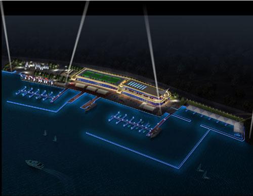 武汉市政亮化工程-武汉军运会帆船泊位区